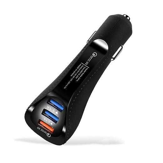 ZDZHU Cargador de Coche de 3 USB, Adaptador de Cargador USB ...