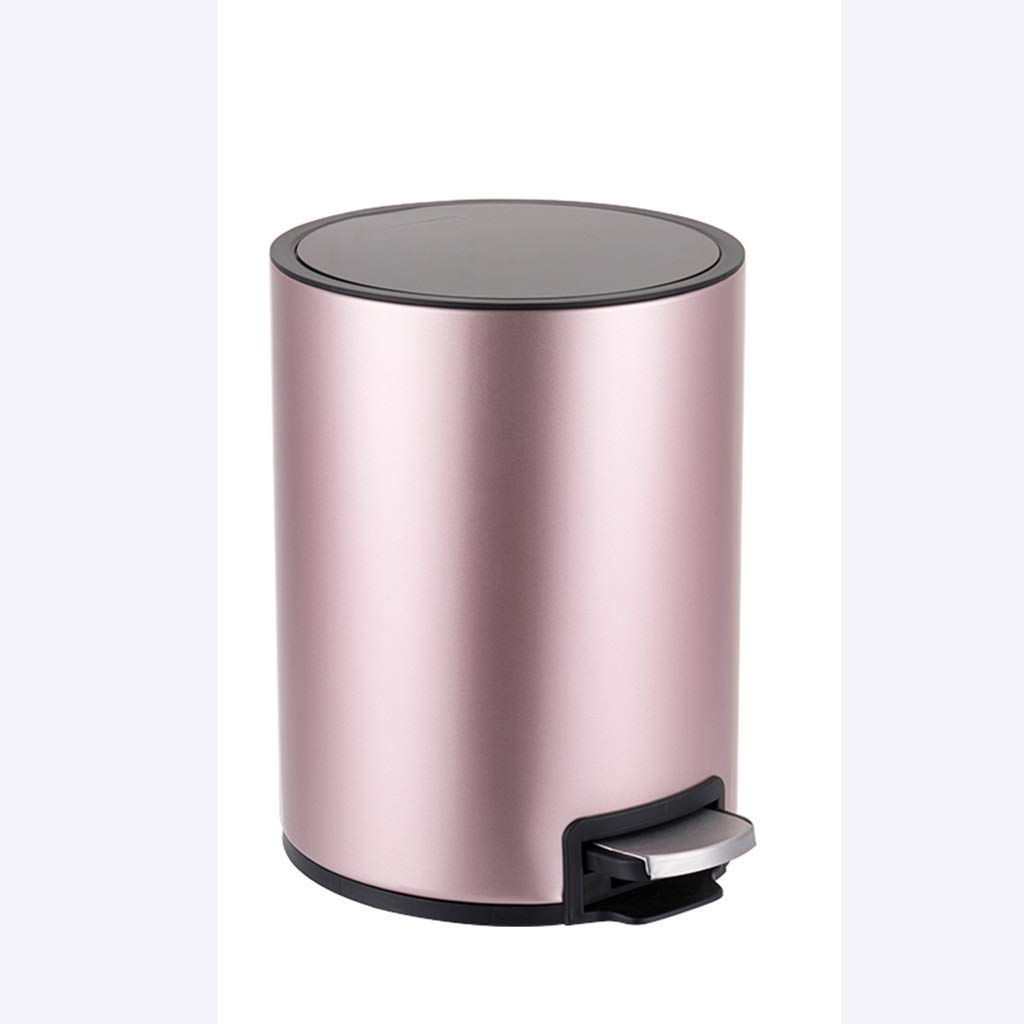 Household Trash Can Covered Stainless Steel Trash Can, Foot Pedal Office Trash Can Multi-color And Multi-size Optional trash can (color : F, Size : 12L),E,8L B07QY8HJX5 E 8L