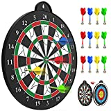 STREET WALK Magnetic Dart Board - 12pcs Magnetic Dart - Excellent Indoor Game and Party Games - Magnetic Dart Board for Kids and Adult