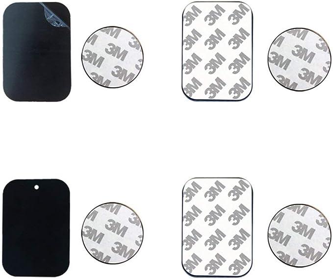 Hehilark Disco de Placa met/álica para Soporte de tel/éfono de Coche con im/án de Hierro l/ámina Adhesiva para Soporte de Coche