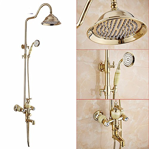 Continental Cu all gold jade with bore shower suite showe...