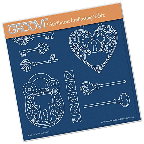 Groovi Embossing A5 Square ~ Key To My Heart, GRO40536 by Groovi