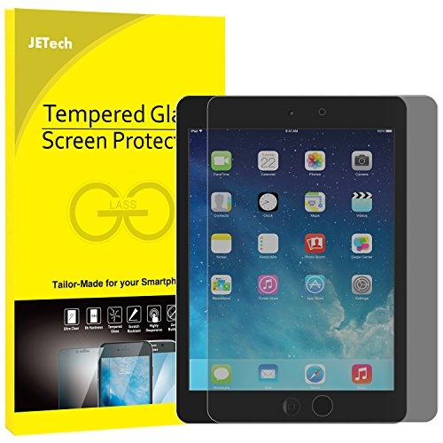 iPad Mini Screen Protector, JETech Premium Privacy Anti-Spy Tempered Glass Screen Protector for Apple iPad Mini 1/2/3 (Not Mini 4) (Black) - 0336H