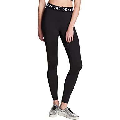 2cae228d5fd3e DKNY Sport Womens High-Rise Active Athletic Leggings Black XL at ...