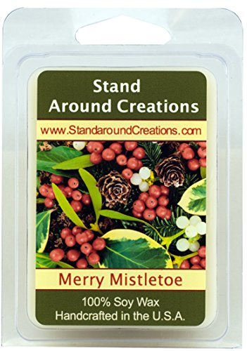 Very Merry Cranberry (100% All Natural Soy Wax Melt Tart - Merry Mistletoe: A blend of citrus, blue spruce, and frosted cranberries create this perfect holiday scent! This fragrance is infused with Fir, Peppermint, and Cedar Leaf essential oils. - 3oz - Naturally Strong Scented)