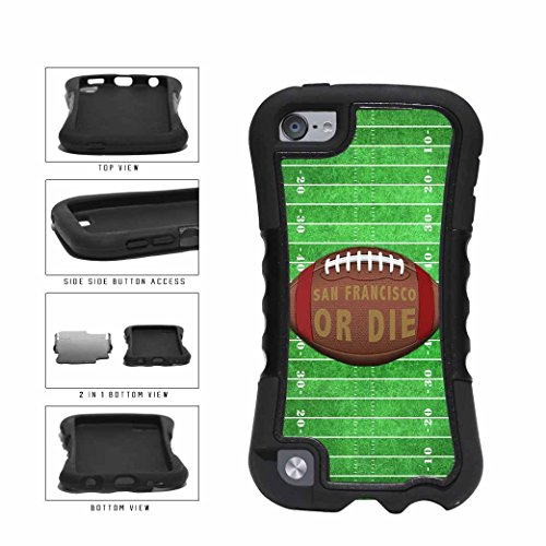 San Francisco or Die Football Field 2-Piece Dual Layer Phone Case Back Cover Apple iPod Touch 5th Generation