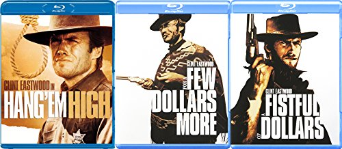 Clint Eastwood Western Blu Ray Collection Sergio Leones Fistful of Dollars / A Few Dollars More + Hang 'Em High