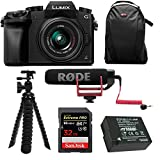 Panasonic LUMIX G7 Mirrorless Digital Camera with 14-42mm f/3.5-5.6 Lens & Rode On- Camera Microphone Accessory Bundle
