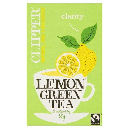 Clipper Teas - Everydays - Fairtrade Green Tea with Lemon - 50g - Clipper Green Tea