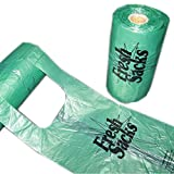 E Waste Disposals Fresh Sacks Biodegradable Diaper Disposal Bags, Roll of 250
