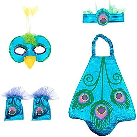 Conjunto Disfraz Pavo Real Infantil (5 PCS) - Animales Carnaval ...