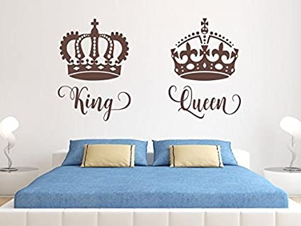 Amazon.com: ChloeLew778 King And Queen Decal King And Queen Decor ...