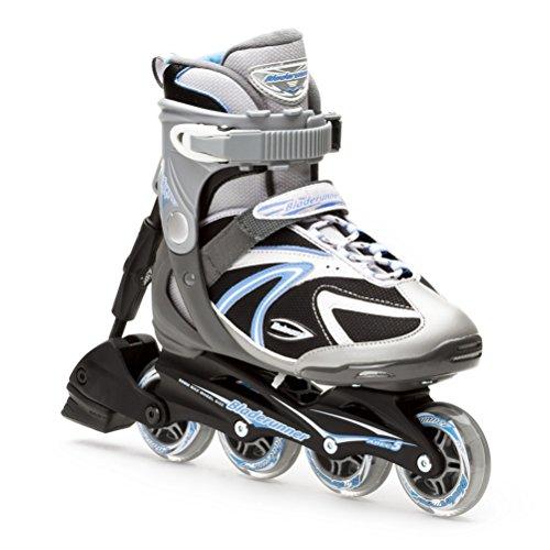 (Bladerunner Performa ABT Womens Inline Skates - 7.0/Silver-Blue)