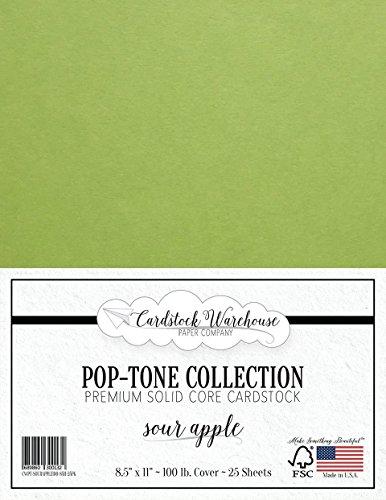 SOUR APPLE GREEN Cardstock Paper - 8.5