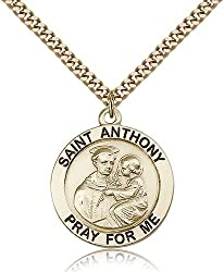 14kt Gold Filled St. Anthony Pendant