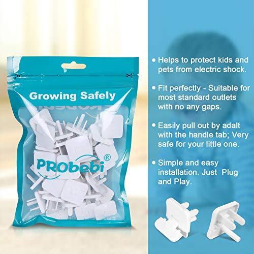 51bdlA0J9RL 38 Pack Baby proofing Outlet Plugs, PRObebi No Easy to Remove by Children Keep Prevent Baby from Accidental Shock Hazard    Product Description