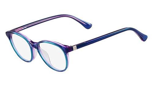 Calvin Klein Platinum - CK5917, Rund, Acetat, Damenbrillen, BLUE(438 ), 47/15/135