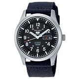 Seiko Men's 5 Automatic SNZG15K Black Nylon Automatic Watch