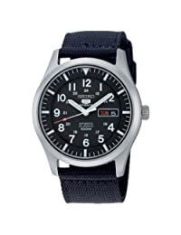 Seiko Men's 5 Automatic SNZG15K Black Nylon Automatic Watch