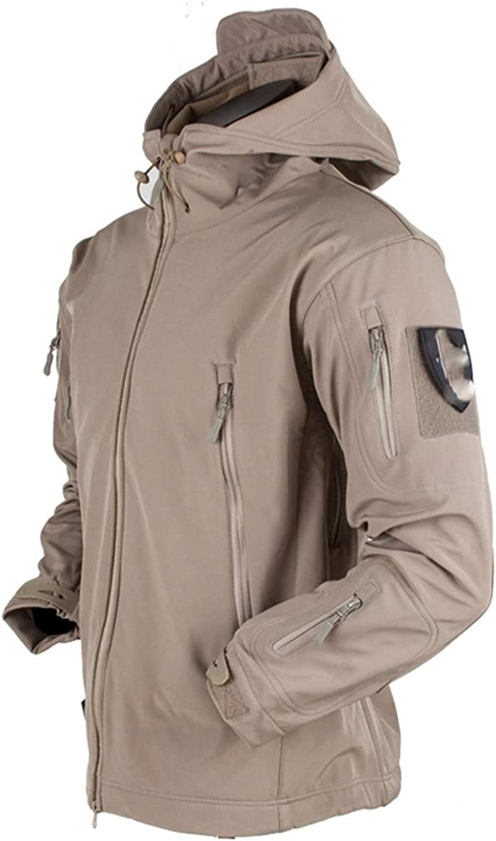 IFAWNGDK Military Jacket Style Men Tactical Windbreaker Clothes Shark Skin Winter Softshell Coat Waterproof Jacket