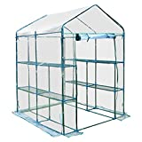 Cheap Outsunny 5′ x 5′ x 6′ Portable Walk In Garden Steeple Greenhouse