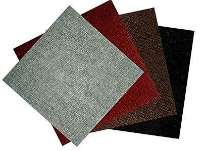 "Carpet Tiles 12"" x 12"" Peel and Stick 100 Square Feet"