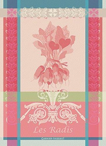 Garnier Thiebaut Towel (Garnier Thiebaut, Radis (Radishes) Rose, 22 by 30