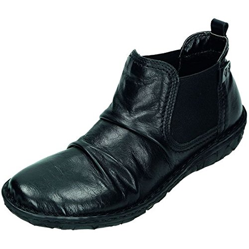 Relaxshoe Mujer Botas/Botines (piel de napa, forro polar, extraíble Plantilla, color Negro, talla 39: Amazon.es: Zapatos y complementos
