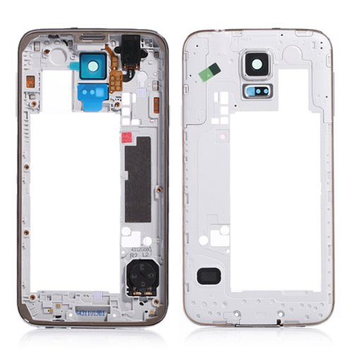 Genuine New Midframe Bezel Chassis Housing for Samsung Galaxy S5 G900 i9600 (White)
