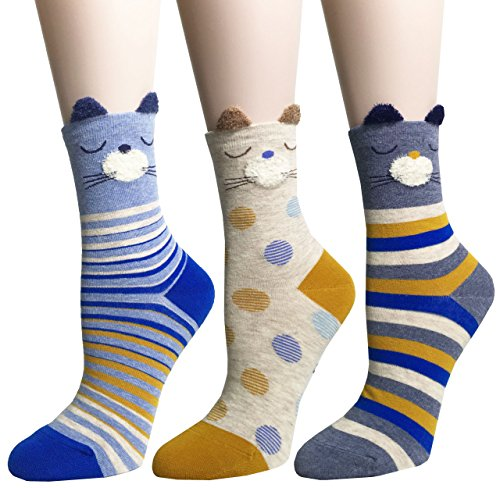 WEILAI Women's Novelty Fashion Cool Animal Crazy Fun Cartoon Gift Socks 51bdmusig L