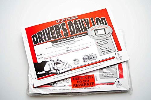 J.J. Keller 8526 701L Duplicate Driver's Daily Log Book Carbonless (4 Pack) Drivers Daily Log Carbonless Duplicate