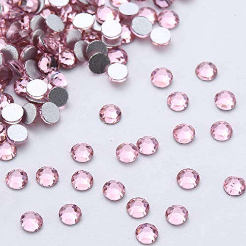 Kamas Light Rose 3D Nail Art Non Hotfix Crystal Rhinestones For Nails Art Decoration Glue On Glass Diamonds DIY Wedding Dresses 1005 - (Color: ss20 1440pcs)