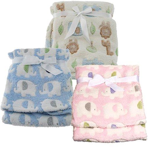 Baby Decke Kuscheldecke Schlafdecke Schmusedecke (Elefant Rosa)