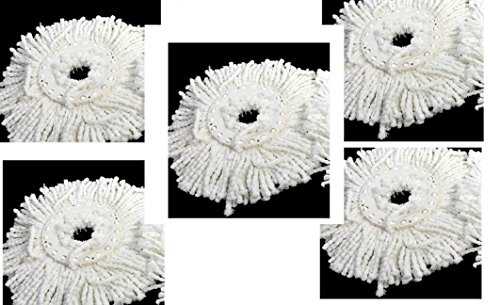 Pro 360 Rotating Spin Magic Mop   Dual Drying Version Replacement Mop Heads  Pro 360 Clean   5 Pack