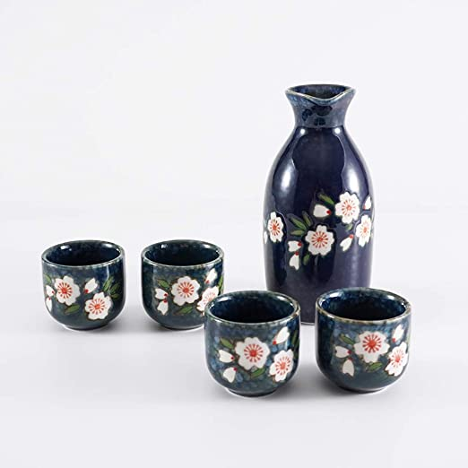 Chinese Old Blue /& White Flower Pattern Porcelain Tea// Wine Cup