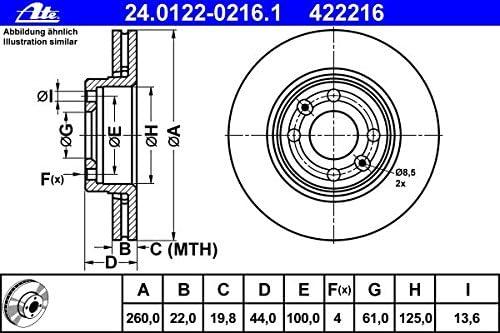ATE CERAMIC BREMSBEL/ÄGE SCHEIBEN /Ø260mm vorne