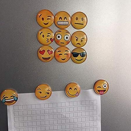 Imanes para nevera, diseño de emoticonos de colores variados y ...