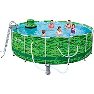 Bestway 14 39 X 48 Camo Steel Pro Frame Above Ground Swimming Pool Set Cell Phones