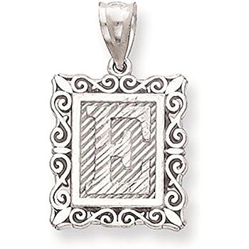 925 Sterling Silver Satin Antiqued Spanish St Gabriel Medal Pendant