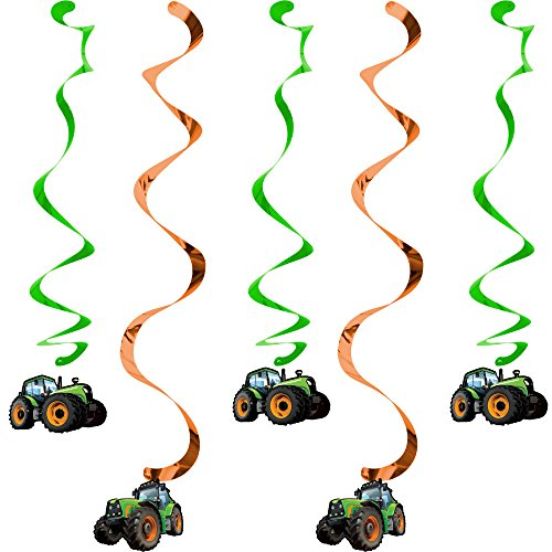 Creative Converting 318059 5 Count Tractor Time Hanging