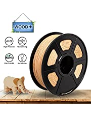 3D Filament PLA Wood 1KG - 1.75mm for 3D Printer / 3D Print Pen, Tactile Feel of Wood, 1KG / 360m, -0.02mm Tolerance, vacuumed Packed, RoHS Directive and No Potentially Hazardous Substances