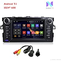 MCWAUTO for TOYOTA COROLLA 2007- 2011 Quad-core 7 inch Android 7.1 In Dash Car DVD Player Stereo Radio GPS Navigation Headunit Support SD/AUX/USB/ Wifi Bluetooth Mirrorlink Map Card and Rear Camera