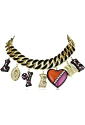 "Betsey Johnson ""60's Mod "" Love Me Chain Link Necklace"