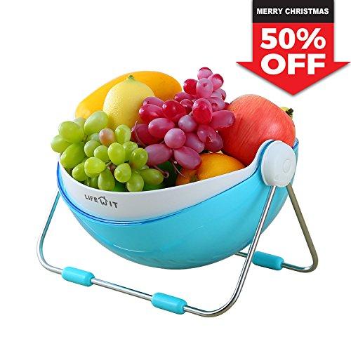 Lifewit Fruit Bowl Fruit Basket Vegetable Washing Basket