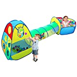 Viciviya Kids Play Tent with Tunnel and Ball Pit 3 in 1 Pop up Play House Toys Perfect Gift for Child, Boys, Girls, Babies and Toddlers Indoor & Outdoor Use (Not Included Balls)