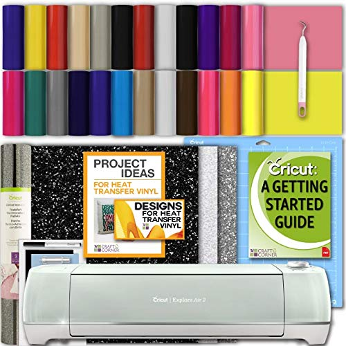 Cricut Explore Air 2 Machine Bundle with IronOn Packs, Sampler, Weeding Tool and eBook ()