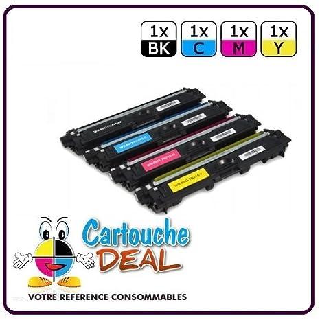 Cartouche Deal® - Juego de 4 tóneres láser genérico Brother TN241 ...