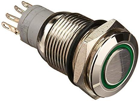 16mm eDealMax 24V anillo de luz LED Ronda interruptor de ...