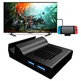 Portable Dock for Nintendo Switch, MENEEA Replacement Dock With Electronic Chip for Nintendo Switch (With Chip)