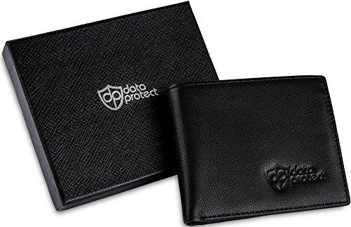 Qualité Sécurité Crédit Haute Protect Cuir En Porte Portefeuille Et Carte Protection De Cartes monnaie Data Pour Rfid Noir D'identité qwgg0aB